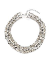 Jacques Vert | Gray Facet Stone Necklace | Lyst