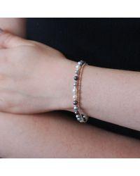 Dower & Hall | Metallic Silver And Mix Pearl Orissa Bracelet | Lyst