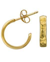 Dower & Hall - Metallic Nomad Gold Beaten Hoop Earrings - Lyst