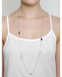 Juvi Designs - Metallic Antibes Silver Long Necklace - Lyst