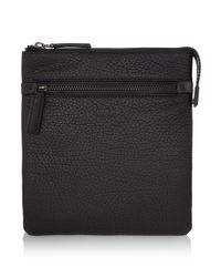 BOSS Black Victorian Soft Grain Leather Crossbody Bag for men