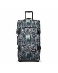 Eastpak - Multicolor Tranverz Medium Escaping Pines Wheeled Suitcase - Lyst