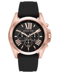 Michael Kors | Multicolor Bradshaw Rose Gold-tone And Silicone Watch for Men | Lyst