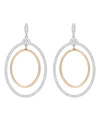 Swarovski | Metallic Gilberte Hoop Pierced Earrings | Lyst