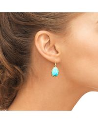 Latelita London - Multicolor Petite Drop Earring Gold Turquoise - Lyst