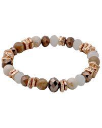 Pilgrim - Multicolor Beautiful Gold Plated Bracelet - Lyst