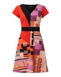 James Lakeland - Red Geometric Print Dress - Lyst