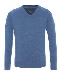 Paul Costelloe - Blue Men's Roebuck Raglan Sleeve Merino Jumper for Men - Lyst