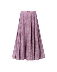 Jolie Moi Multicolor Lace Bonded Pleated Midi Skirt