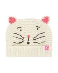 Joules - Natural Baby Girls Cat Hat - Lyst