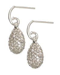 Links of London - Metallic Hope Egg Earrings White Topaz - Lyst