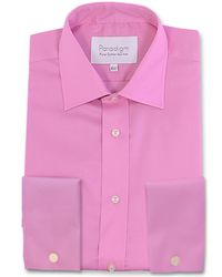 Double Two Pink Paradigm Double Cuff Pure Cotton Non-iron Shirt for men