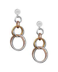 Links of London Metallic Aurora Double Link Earrings