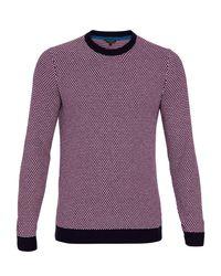 Ted Baker - Purple Coftini Crew Neck Knitted Jumper for Men - Lyst