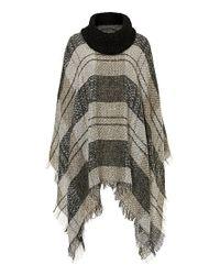 Betty Barclay - Gray Fringed Blanket Poncho - Lyst