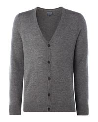 Howick | Gray Men's Arlington 100% Lambswool Cardigan for Men | Lyst