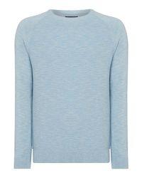 Criminal Blue Rowan Knit Jumper for men