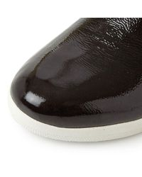 Fitflop Black Supermod Ankle Patent Chelsea Boots