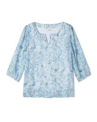 Dash Blue Inky Shells Georgette Blouse