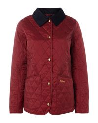 Barbour Red Exclusive Annandale Quilt Jacket