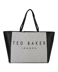 Ted Baker Black Janiice Logo Shopper Bag