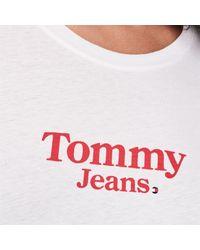 Tommy Hilfiger White Flag Detail T Shirt