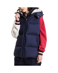 Tommy Hilfiger Blue Ivan Colour Block Down Gilet