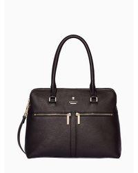 Modalu | Black Pippa Classic Leather Grab Bag | Lyst