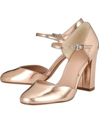 Phase Eight Multicolor Metallic Leather Block Heels