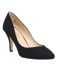 Office Black Mademoiselle Mid Heel Court Shoes