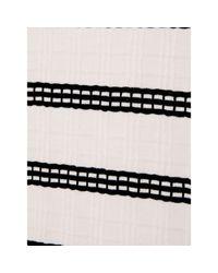 Phase Eight White Scout Textured Stripe Top