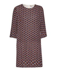 Great Plains - Red Malmo Contrast Belt Tunic Dress - Lyst