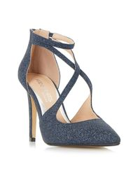 Dune - Blue Cassy Strappy Open Court Shoes - Lyst
