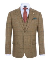 Paul Costelloe - Green Men's Elmley Checked Wool Jacket for Men - Lyst