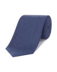 HUGO | Blue Grid Spot Tie for Men | Lyst