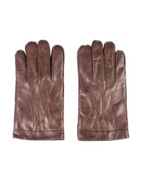 Gibson Brown Cognac Leather Gloves for men