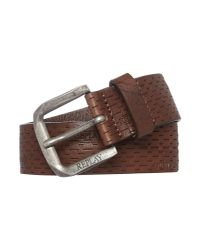 Replay Brown Douglas Leather Belt for men