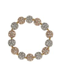 Mikey - White Crystal Heavy Bracelet - Lyst