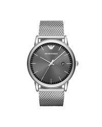 Emporio Armani Metallic Dress Luigi Analog Bracelet Watch for men