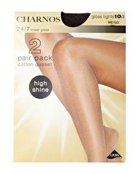 Charnos Black 24/7 2 Pair Pack 10 Denier Sheer Tights