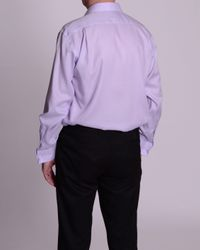 Double Two Purple Paradigm Double Cuff Pure Cotton Non-iron Shirt for men