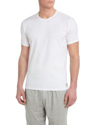 Calvin Klein White 2 Pack Crew Neck Cotton T-shirt for men