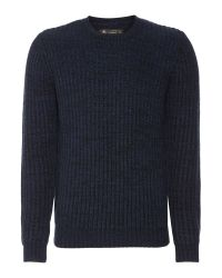 Label Lab | Blue Dean Multicoloured Crew Neck Jumper for Men | Lyst