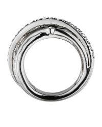 Dyrberg/Kern Metallic Wendolyn Shiny Silver Crysta Ring