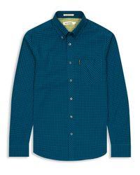 Ben Sherman | Blue Classic Gingham Check Long Sleeve Shirt for Men | Lyst