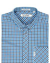 Ben Sherman - Blue Heritage House Check Long Sleeve Shirt for Men - Lyst