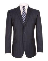 Pierre Cardin Gray Sharkskin Stripe Jacket for men