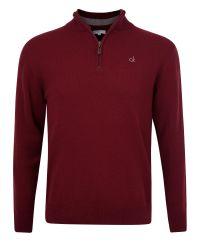Calvin Klein | Purple Superwool Zip Neck Sweater for Men | Lyst
