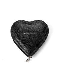 Aspinal   Black Heart Coin Purse   Lyst