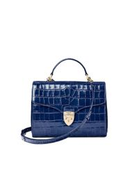 Aspinal Blue Mayfair Crossbody Bag